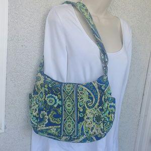 Vera Bradley Green Blue Rhapsody Shoulder Handbag
